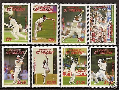 ST VINCENT GRENADINES 1988 CRICKETERS Border 8v MNH