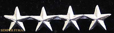 2 Two Four Star General Us Marines O-10 Collar Hat Pin