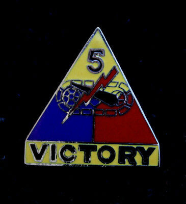 5th ARMORED DIVISION HAT LAPEL PIN US ARMY VICTORY DIVISION WW 2 TANK GIFT WOW