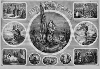 Civil War Fourth Of July, Liberty Flag, Going To War