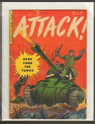 Attack! #2 & #4 Golden Age War Comics YOUTHFUL 1952 BCC