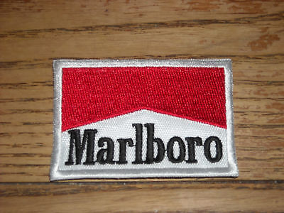 "Vintage Marlboro Cigarette Collectible Patch F-1 2 1/2"" X 1 3/4"""