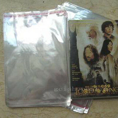100 DVD Case/Box Cello Plastic Sleeves Wrap Bags