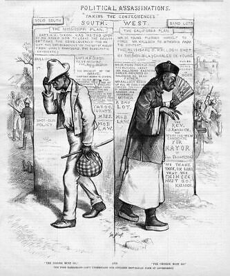 Negro And Chinese Must Go Political Assassination Chinaman By Thomas Nast