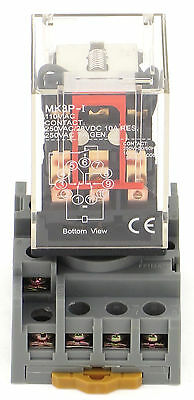 Ice Cube Relay 11Pin 3 Pole 120V Ac Pbc-Rep-3P10A-120Vac + Pbc-Socket-Rep-3P10A
