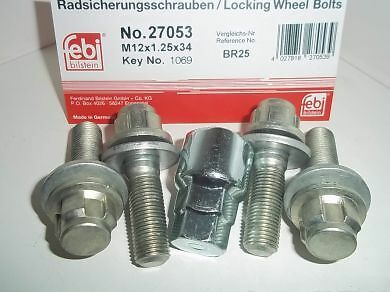 Citroen C2 Locking Wheel Nuts WN53