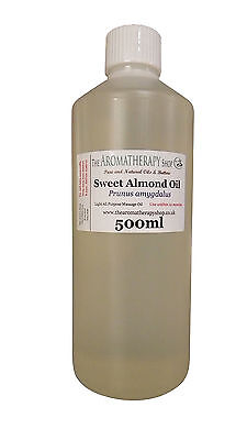 Sweet Almond Pure Organic Carrier Oil 500ml / Cold Pressed