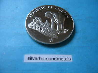 Elephant 1974 Liberia 999 Silver $5 Coin Rare Unique