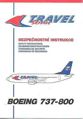Safety Card - Travel Service - B737 800 5 lang (S2784)