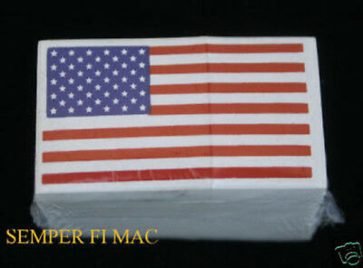 100 HELMET STICKER DECAL USA FLAG 2X1 MADE IN US ARMY MARINES NAVY AIR FORCE WOW
