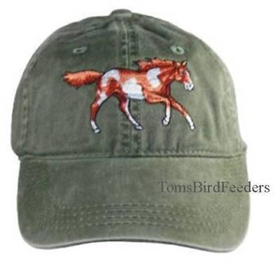 Wild Mustang Embroidered Cotton Cap NEW Hat Horse