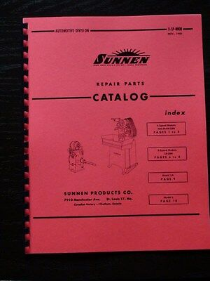 Sunnen Repair Parts Catalog 1948 Covers Many Machines