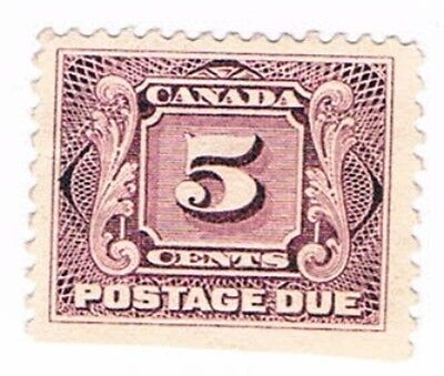 Canada First Postage Due Stamp Scott #J4 5-cents