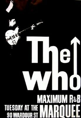 THE WHO CONCERT POSTER Maximum R&B at the Marquee NEW