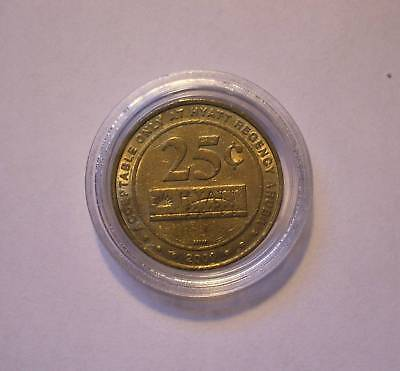2000 Copa Cabana 25 Cent Gaming Token - Hyatt Regency - Aruba