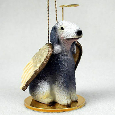 Bedlington Terrier Ornament Angel Figurine Hand Painted
