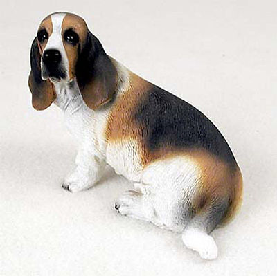 Basset Hound Hand Painted Dog Figurine Statue