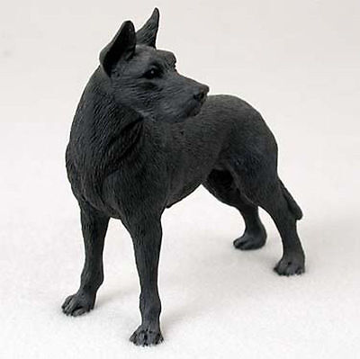 Great Dane Figurine Hand Painted Statue Black