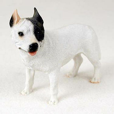 Pitbull Hand Painted Dog Figurine Statue