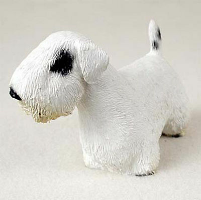 Sealyham Terrier Figurine Hand Painted Statue