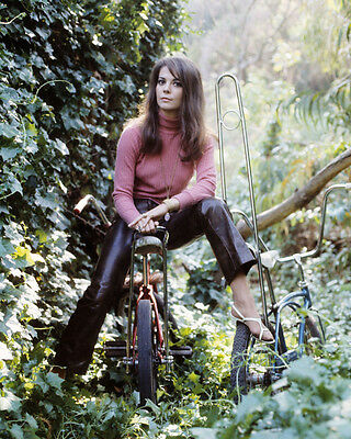 Natalie Wood 8X10 Photo Leather Pants In Woods Rare