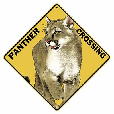 Panther Crossing Sign NEW 12x12 Metal Low Shipping