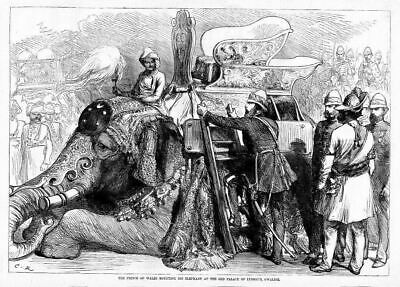 Prince Of Wales Mounting His Elephant At Old Palace