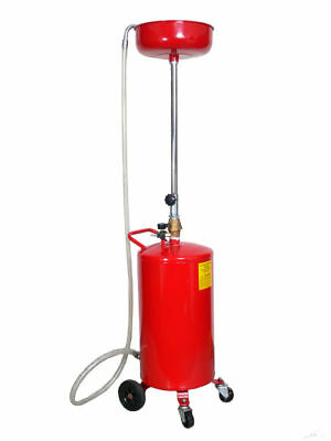 20 Gallon Portable Oil Waste Drain Lift Pan Tools