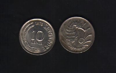 Singapore 10 Cents Km3 1967 - 1985 Sea Horse Scarce Asean Currency Money Coin