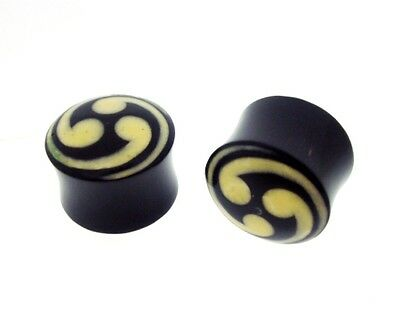 "PAIR CHECKER 7//16/"" INCH 000G 12MM HORN PLUGS TUNNELS"