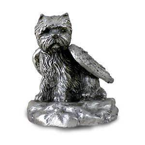 Pewter WESTIE TERRIER Angel Dog Figurine Set Lot of 12