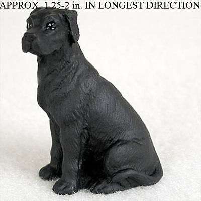 Great Dane Mini Resin Dog Figurine Black Uncropped