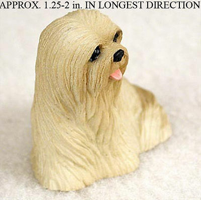 Lhasa Apso Mini Figurine Blonde