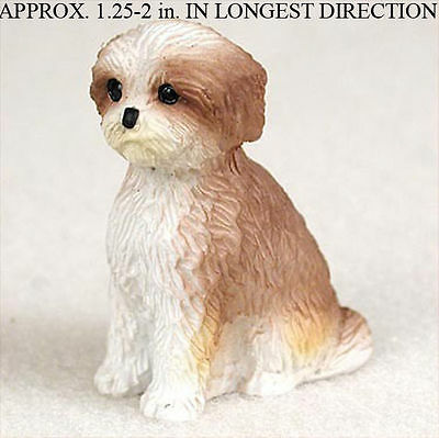 Shih Tzu Mini Resin Dog Figurine Tan Puppy Cut