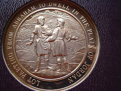 Thomason Medallic Bible 9: LOT PARTING FROM ABRAHAM. Franklin Mint Bronze Medal