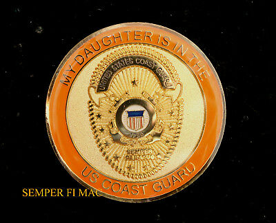 My Daughter Is In The Us Coast Guard Hat Lapel Pin Graduation Mom Dad Brother