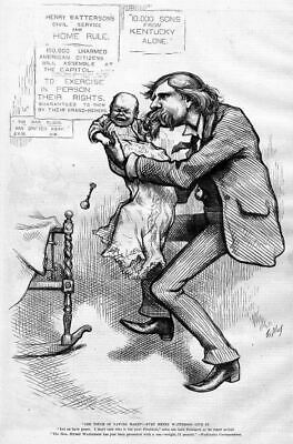 Henry Watterson And Crying Baby United States Journalist Civil Service Home Rule