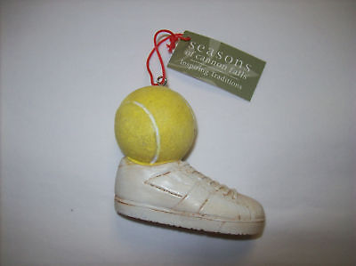 Tennis Ball with Shoe Ornament