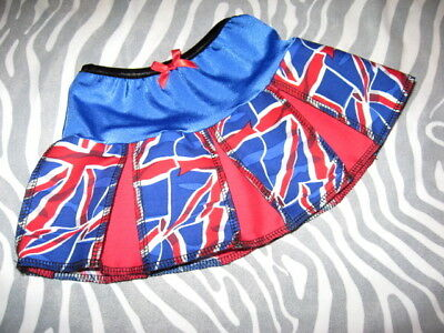 NEW Girls Black,Red,White Union Jack  Skirt 0-3,Newborn