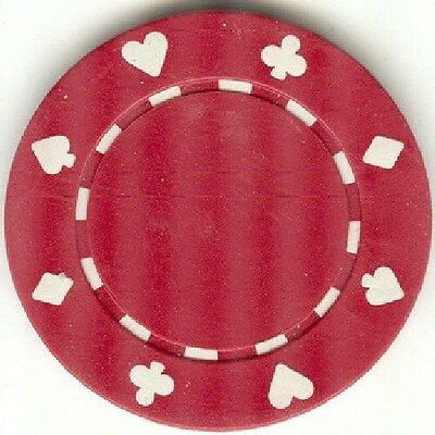 11.5 gram Suits Poker Chips roll of 25 - Red
