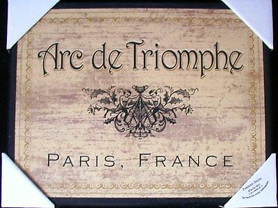 Paris, France Arc de Triomphe Wall Art Sign