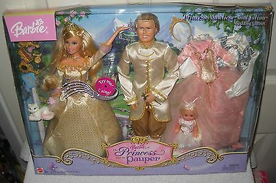 #737 NRFB Princess and the Pauper Barbie Princess Anneliese & Julian Wedding Set