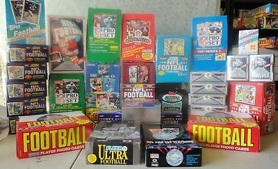 VINTAGE UNOPENED FACTORY SEALED FOOTBALL CARDS IN PACKS