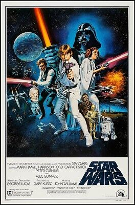 STAR WARS EPISODE IV A NEW HOPE MOVIE POSTER, USA Style C (24x36)
