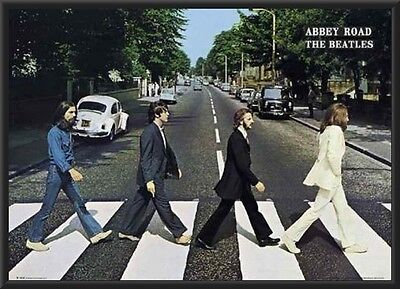 The BEATLES Abbey Road FRAMED POSTER FULL SIZE