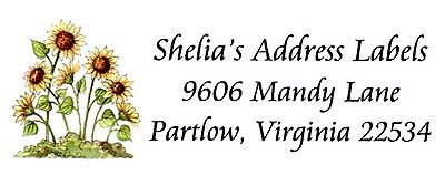 Cluster of Sunflowers gardening Address Labels