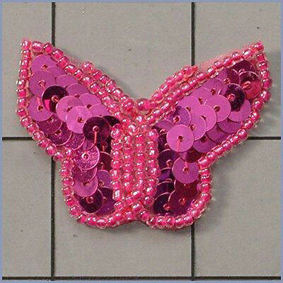 SEQUIN BEADED SCROLL DESIGNER MOTIF APPLIQUE 0176-P