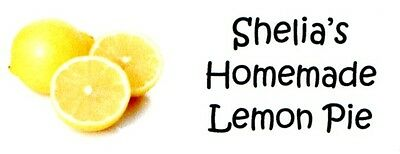 Lemons Fruit Address Labels