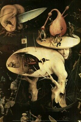 THE GARDEN OF EARTHLY DELIGHTS POSTER Hieronymus Bosch