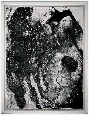 American Artist DAVID TRUE,Very Large Etching on Canvas